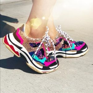 Colorful Sequin Sneakers